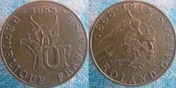 10 Francs 1988 - Roland Garros