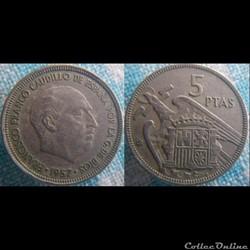 5 pesetas 1957 (65)