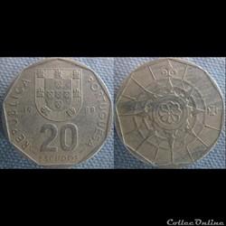 20 Escudos 1988