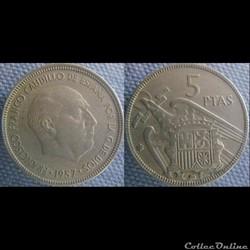 5 pesetas 1957 (64)