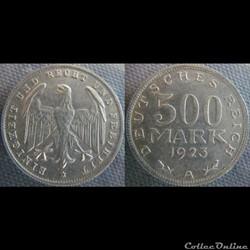 500 Mark 1923 A