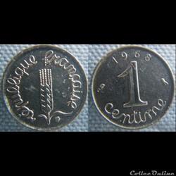 1 Centime 1968