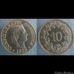 10 Rappen 1939 B