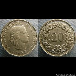 20 Rappen 1955 B