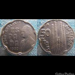 50 Pesetas 1992 Sagrada Familia