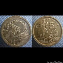 5 pesetas 1996