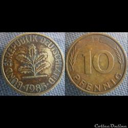 10 Pfennig 1985 G