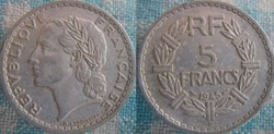 5 Francs 1945 B