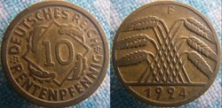 10 Rentenpfennig 1924  F