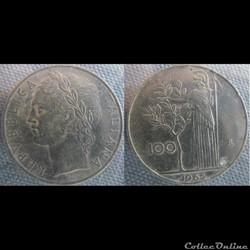 100 Lire 1965