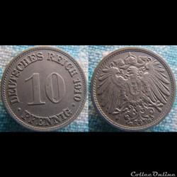 10 pfennig 1910 G