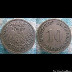10 pfennig 1901 A