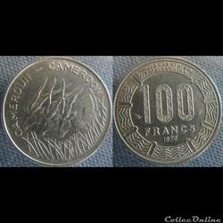 100 Francs 1975