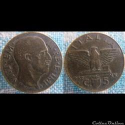5 Centesimi 1942
