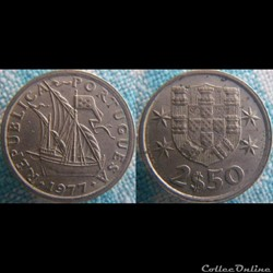 2,50 Escudos 1977