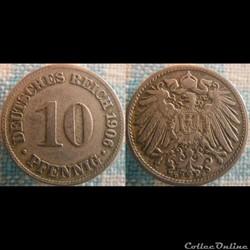 10 pfennig 1906 D