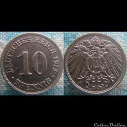 10 pfennig 1913 D
