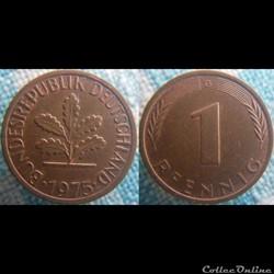 1 pfennig 1975 G