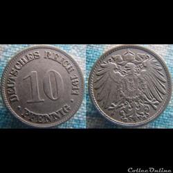 10 pfennig 1911 G