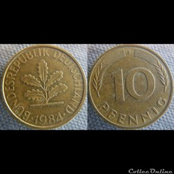 10 Pfennig 1984 F