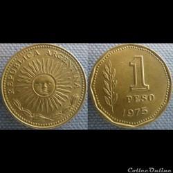 1 Peso 1975