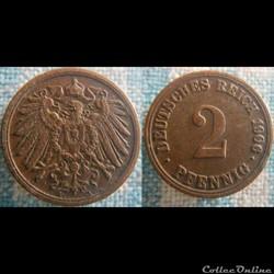 2 pfennig 1906 A