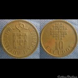 10 Escudos 1991