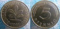 5 Pfennig 1981 G