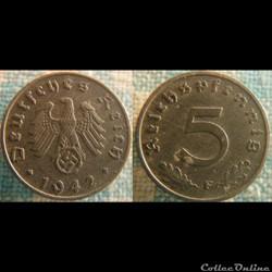 5 Reichspfennig 1942 F