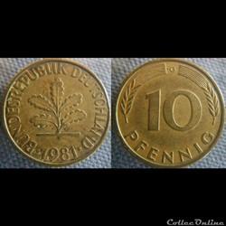 10 Pfennig 1981 G