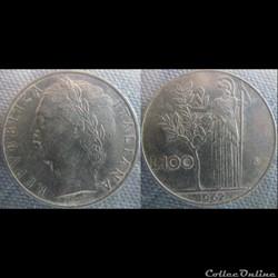 100 Lire 1962