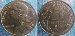 5 Centimes 1983