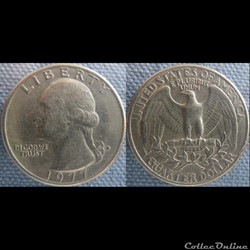 1/4 dollar 1977 D