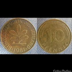 10 Pfennig 1981 F