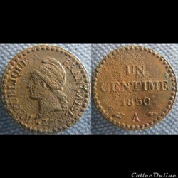 1 Centime 1850 A