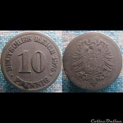 10 pfennig 1875 B