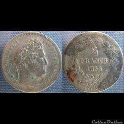 2 Francs 1832 MA