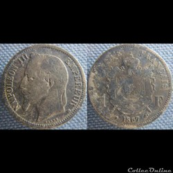 1 Franc 1867 BB