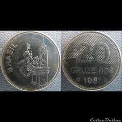 20 Cruzeiros 1981