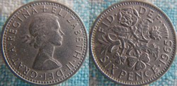 6 Pence 1965