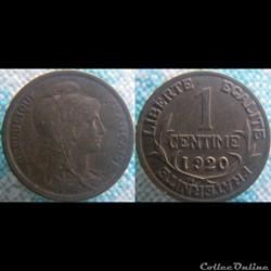 1 Centime 1920