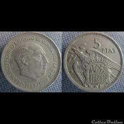 5 pesetas 1957 (58)