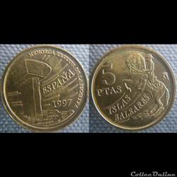 5 pesetas 1997