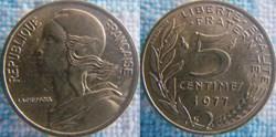 5 Centimes 1977