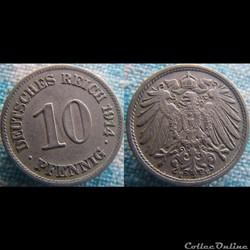 10 pfennig 1914 E