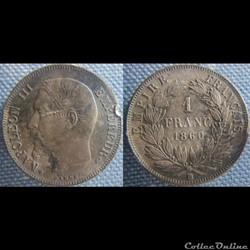 1 Franc 1860 BB