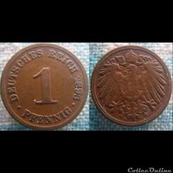 1 pfennig 1893 D