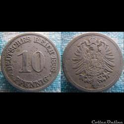 10 pfennig 1888 A