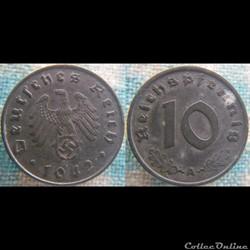 10 Reichspfennig 1942 A