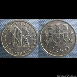 2,50 Escudos 1983